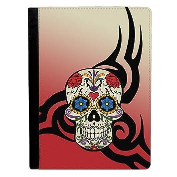 Rojo azúcar calavera día de los muertos con Tribal imagen Apple iPad Pro 12.9 inch Funda de piel funda para tablet: Amazon.es: Electrónica
