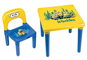 Minions Ma Premire Activit Table Et Chaise Enfant Bureau Prscolaire Officiel 3