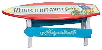 Amazon Com Margaritaville Outdoor Surfboard Coffee Table Garden