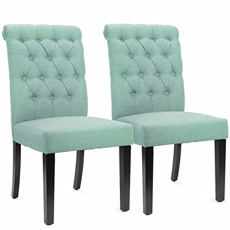Amazon.com: Tapicería de lino lateral silla con enrollado ...