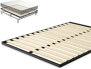 Zinus Deepak Easy Assembly Wood Slat 1.6 Inch Bunkie Board / Bed Slat Replacement, King