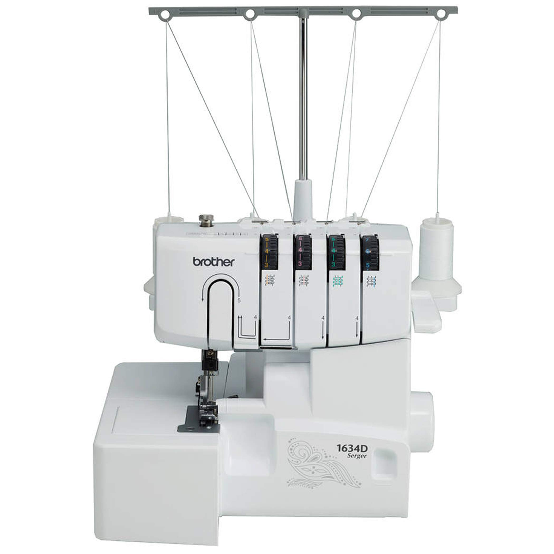 Brother R1634D 3 or 4 Thread Serger with Differential Feed, White (Renewed) by Brother