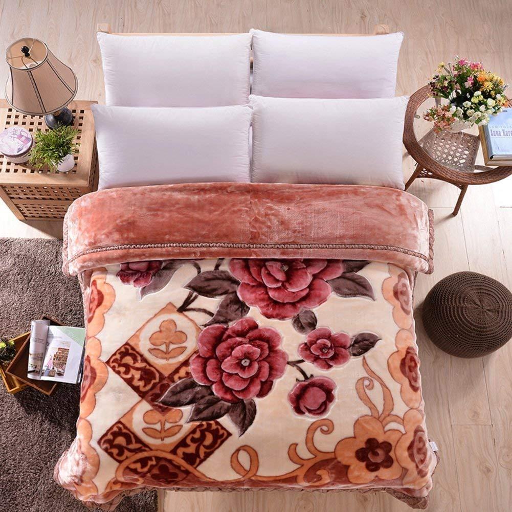 Yunyilian ベッドの裏地の冬の厚くされたフランネルの綿毛布、暖かい単一の二重タオルのキルト毛布 (Color : 200x230cm(79x91inch), サイズ : S) B07QWKFQ6J 200x230cm(79x91inch) Small