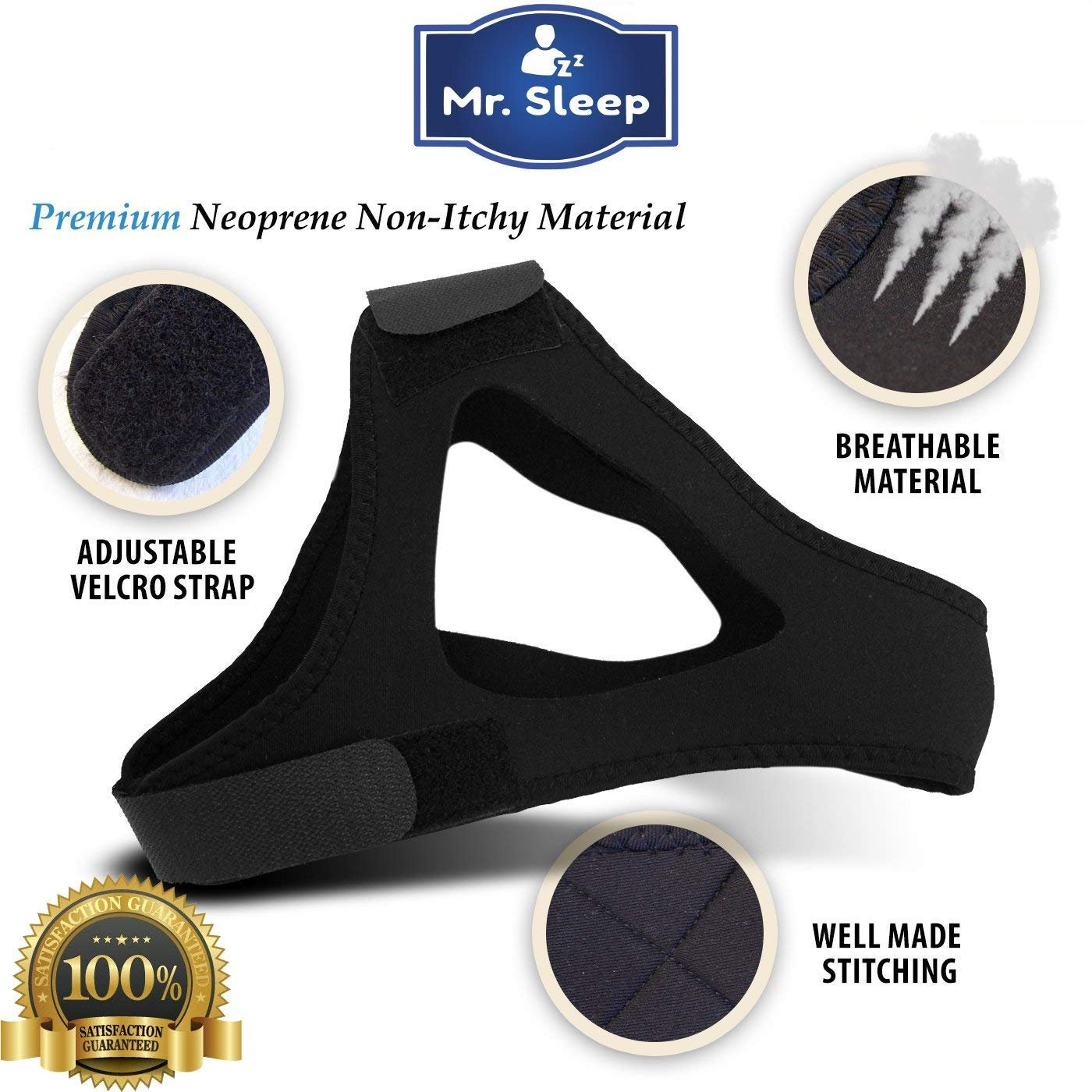 Snoring Solution,3 in 1 Anti Snoring Devices,Nose Vents,Nasal Dilators,Anti Snoring Mouthpiece,Snoring Mouth Guard,Anti Snoring Chin Strap Included,Snore Stopper-Designed by Mr.Sleep by Mr.Sleep (Image #4)