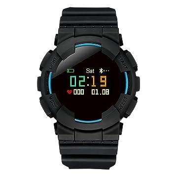 Modelo X reloj inteligente deporte Fitness reloj IP68 resistente al agua para natación y buceo Bluetooth Smart reloj Podómetro Recordatorio de Llamadas ...