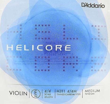 4//4 Scale Light Tension DAddario Helicore Violin Single A String