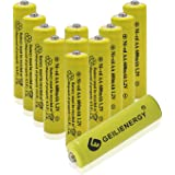 12 Piece Yellow Color AA NiCd 600mAh 1.2V Rechargeable Battery