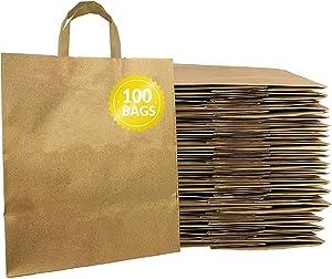 Reli. Kraft Paper Bags w/Handles (100 Pcs, Bulk) (Large 10