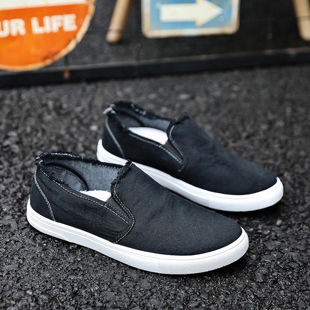 Scarpe Uomo Sneakers Alte Flats Antiscivolo Scarpe Sportive Punta Rotonda Impermeabile Galosce Stivali da Pioggia