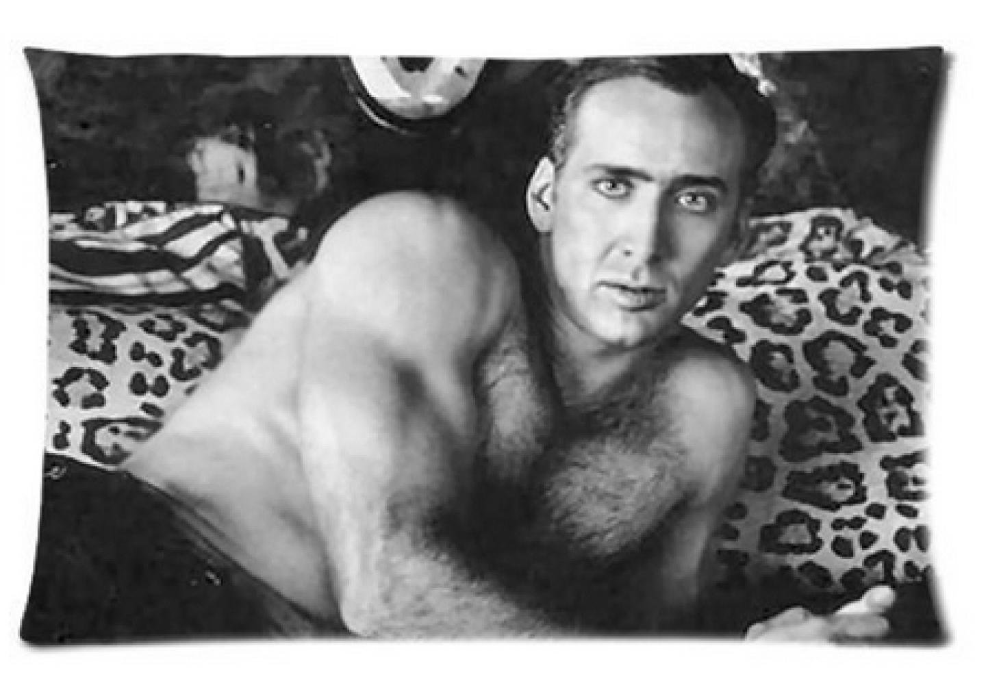 E-FASHION Custom Nicolas Cage Pillowcase Decorate Rectangl Pillow Cases 100% Cotton High Quality Standard Size20X30Inch(Two Sides)'