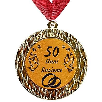 Anniversario Di Matrimonio 40 Anni Regali.Larius Group Medaglia Regalo Di 50 Anni Insieme O Il Testo