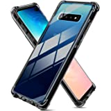 Weuiean for Galaxy S10 Plus Clear Case [Shock-Proof Drop Protection] with [Sound Conversion] Feature Flexible Soft Silicone B