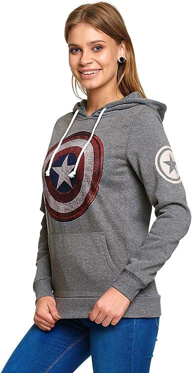 Elbenwald Pigiama Donna Captain America Corto Shield Logo 2 Pezzi Marvel Blu