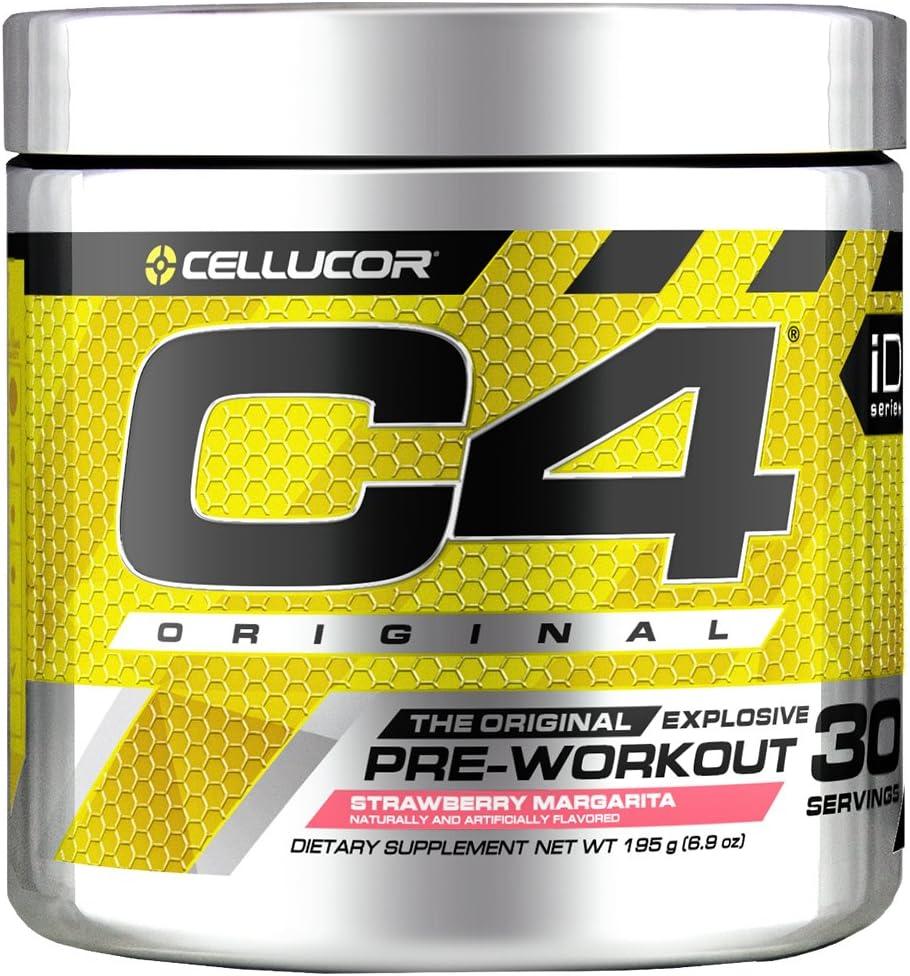 C4 Original Pre Workout Powder Strawberry Margarita| Vitamin C for Immune Support | Sugar Free Preworkout Energy for Men & Women | 150mg Caffeine + Beta Alanine + Creatine | 30 Servings