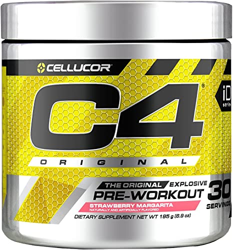 C4 Original Pre Workout Powder Strawberry Margarita Vitamin C for Immune Support Sugar Free Preworkout Energy for Men Women 150mg Caffeine Beta Alanine Creatine 30 Servings