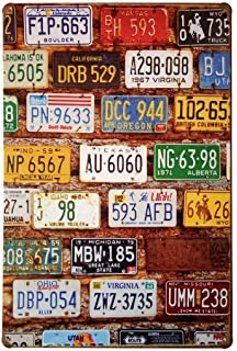 Amazon.com: License Plate Map of the United States Poster 36 x 24in ...