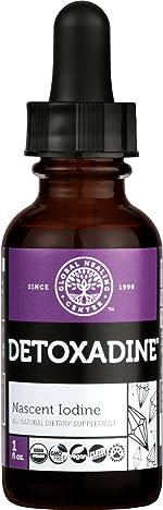 Global Healing Center Detoxadine, Organic Nascent Liquid Iodine Supplement Drops for