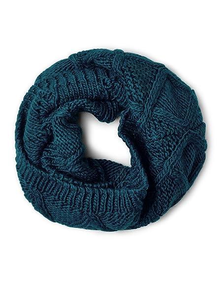 Street One Uni Knitted Loop Scarf, Bufanda para Mujer, Türkis (Pacific Blue  10991