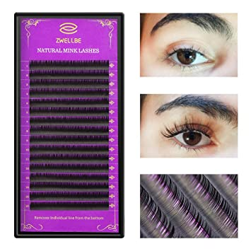 8de9b023e5f Amazon.com : zwellbe 16Rows/Case JBCD Curl Eyelashes Extension Cilia 8-15  mm Lashes Extension for Faux Mink Individual Eyelash Extension : Beauty