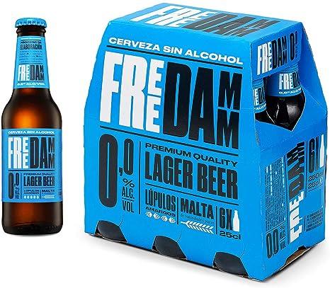Cerveza Sin Alcohol Free Damm Pack de 6 Botellas 25cl: Amazon.es ...