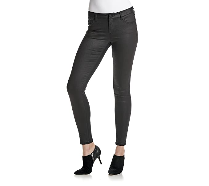 3dc584ef6fa19 Amazon.com: Celebrity Pink Womens Juniors Stretch Coated Skinny ...