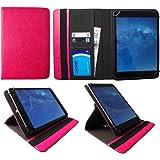 Winnovo M798 4G Tablet 7.85 inch Rosa Universale 360 Gradi di Rotazione PU Pelle Custodia con Portacarte ( 7 - 8 Pollici ) di Sweet Tech