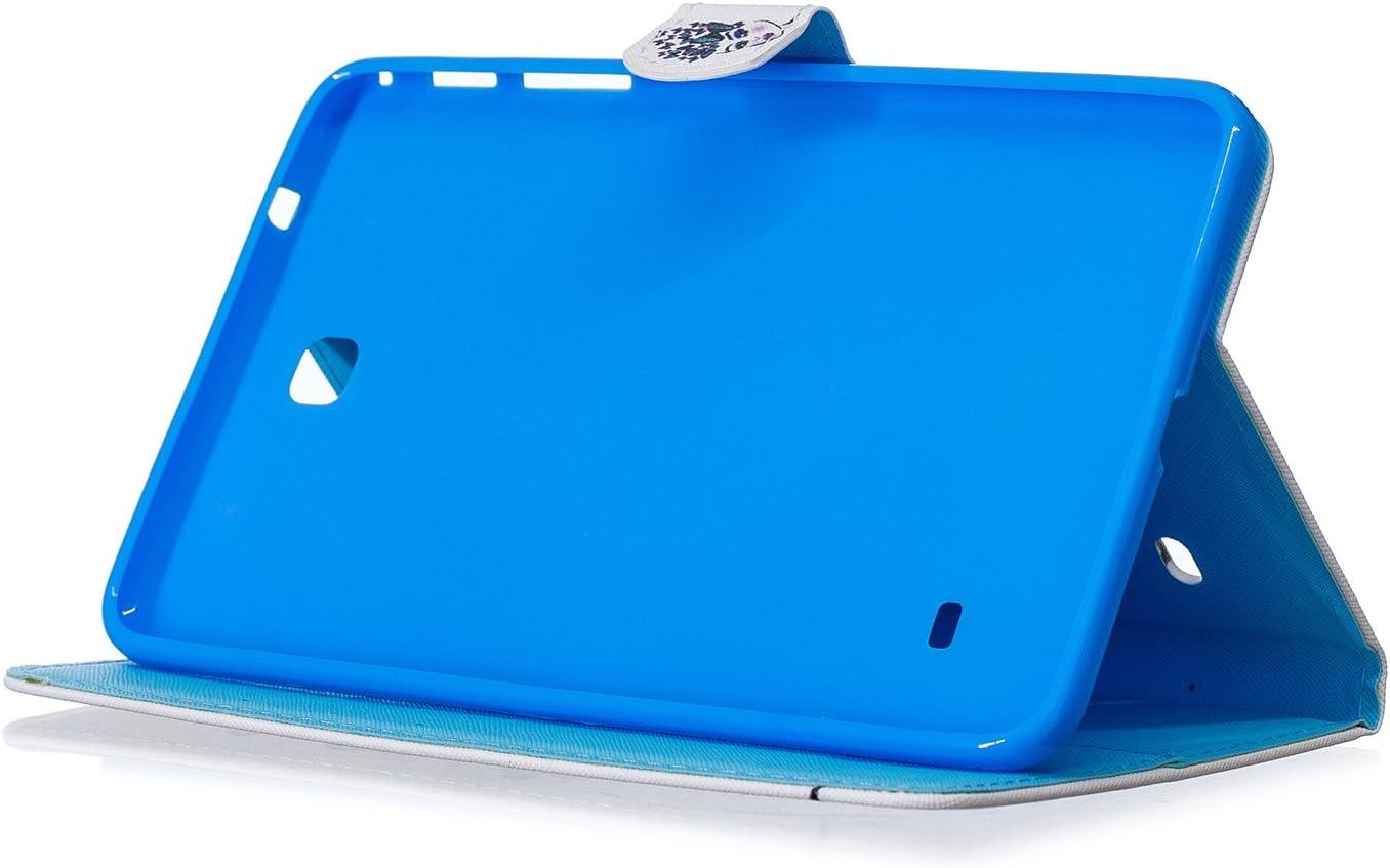 SM-T331 Galaxy Tab 4 8.0 Lederh/ülle Flip H/ülle Leder Klapph/ülle Ledertasche im Bookstyle Bunt Muster Ultrad/ünn Cover Herbests H/ülle f/ür Galaxy Tab 4 8.0 SM-T330 SM-T335