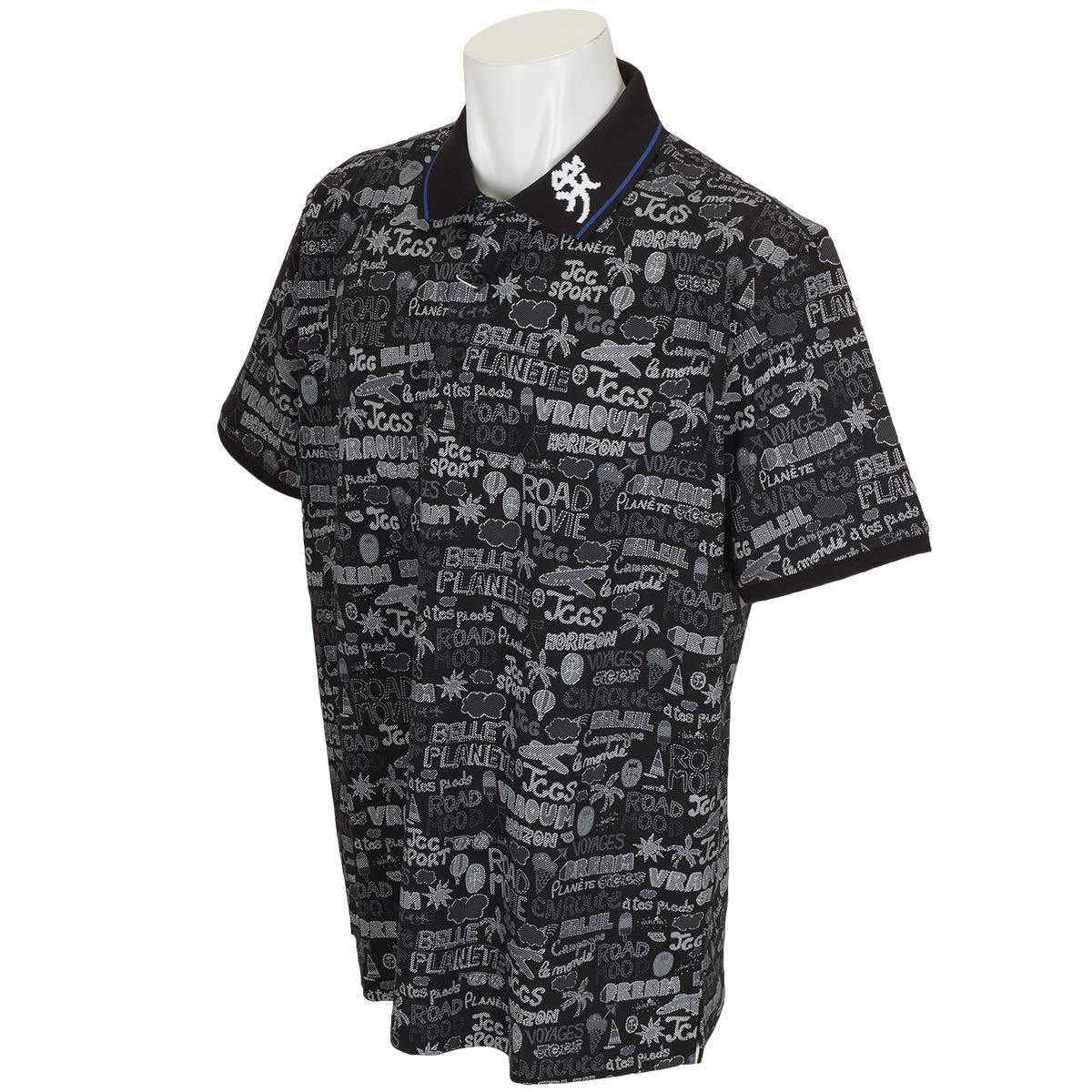 カステルバジャック CASTELBAJAC 半袖シャツポロシャツ 半袖ポロシャツ 50 ブラック 99 B07Q9J78X4