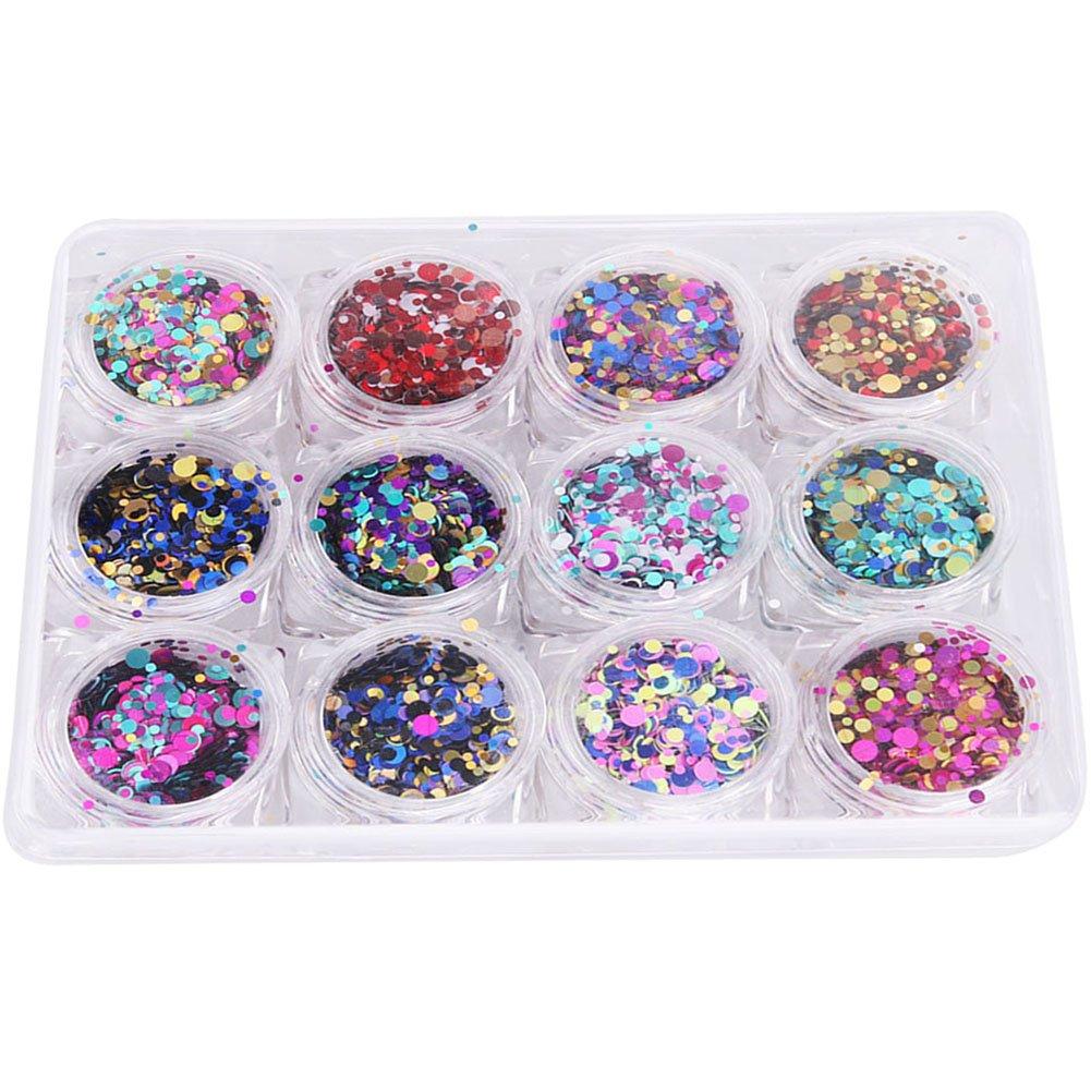 Demiawaking 28 Pots Nail Art Tips Rhinestones Display Box Jewelry Storage Box Case Holder Organiser Container