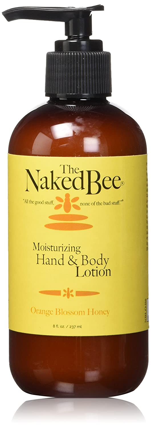 Naked Bee Orange Blossom Honey Hand and Body Lotion Pump Bottle, 8 Ounces NBLO-BB