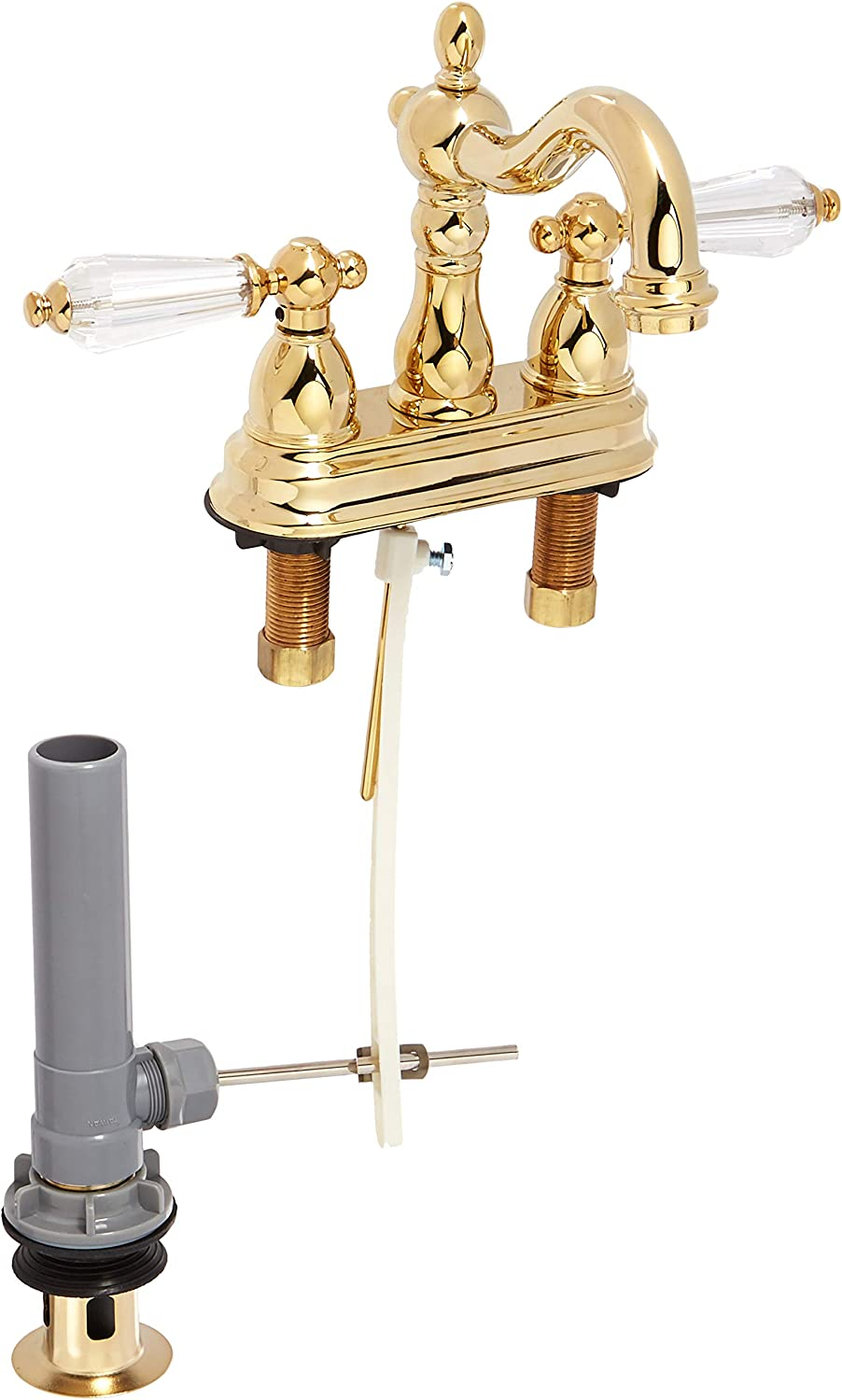 Kingston Brass Kb1602wll Wilshire 4 Centerset Lavatory Faucet With Retail Pop Up Polished Amazon Com