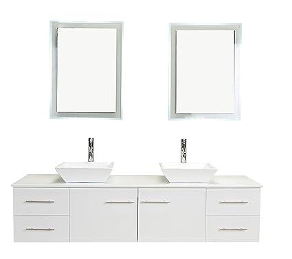 Eviva EVVN147 72WH Totti Wave 72 Inch White Modern Bathroom