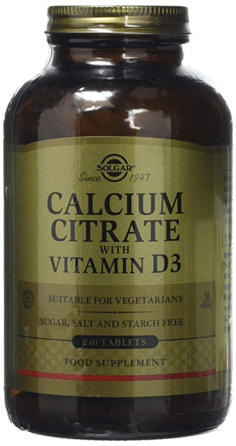 Solgar Calcium Citrate with Vitamin D Tablets - 240 Tablets