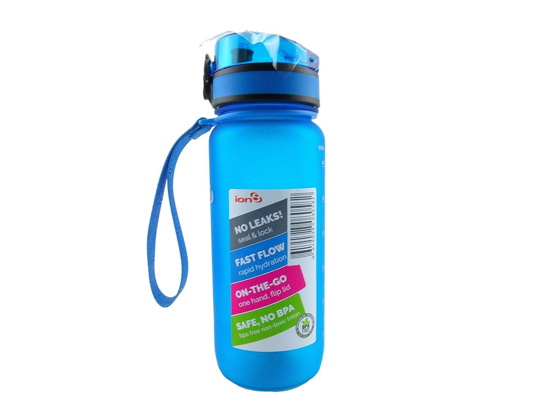 8インチイオンon the GoプラスチックOne Hand Flip Lid水ボトルブルー B071R6MDC2