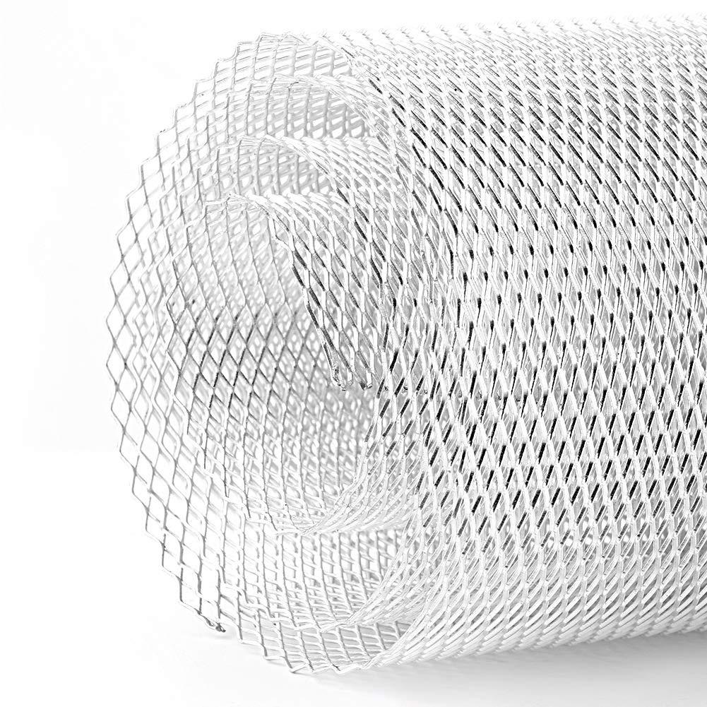 Qii lu 1 Aluminum Alloy 36mm Car Grille ,Universal Car Mesh Sheet Grid Body Bumper Rhombic Grill(Black)