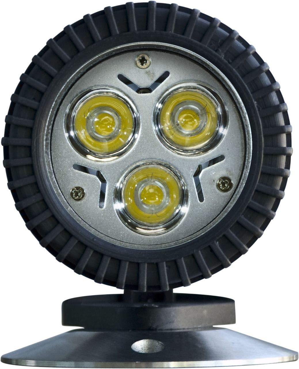 DABMAR LIGHTING LV341-LED3-B Polybutylene Terephthalate LED Pond/Fountain Underwater Light with Stainless Steel Base, Black
