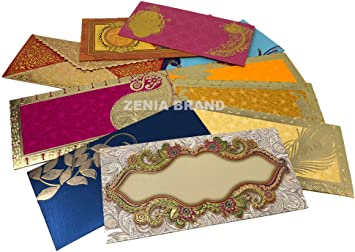 Amazon Com Zenia Invitation Gift Envelopes Pack Of 5 Assorted