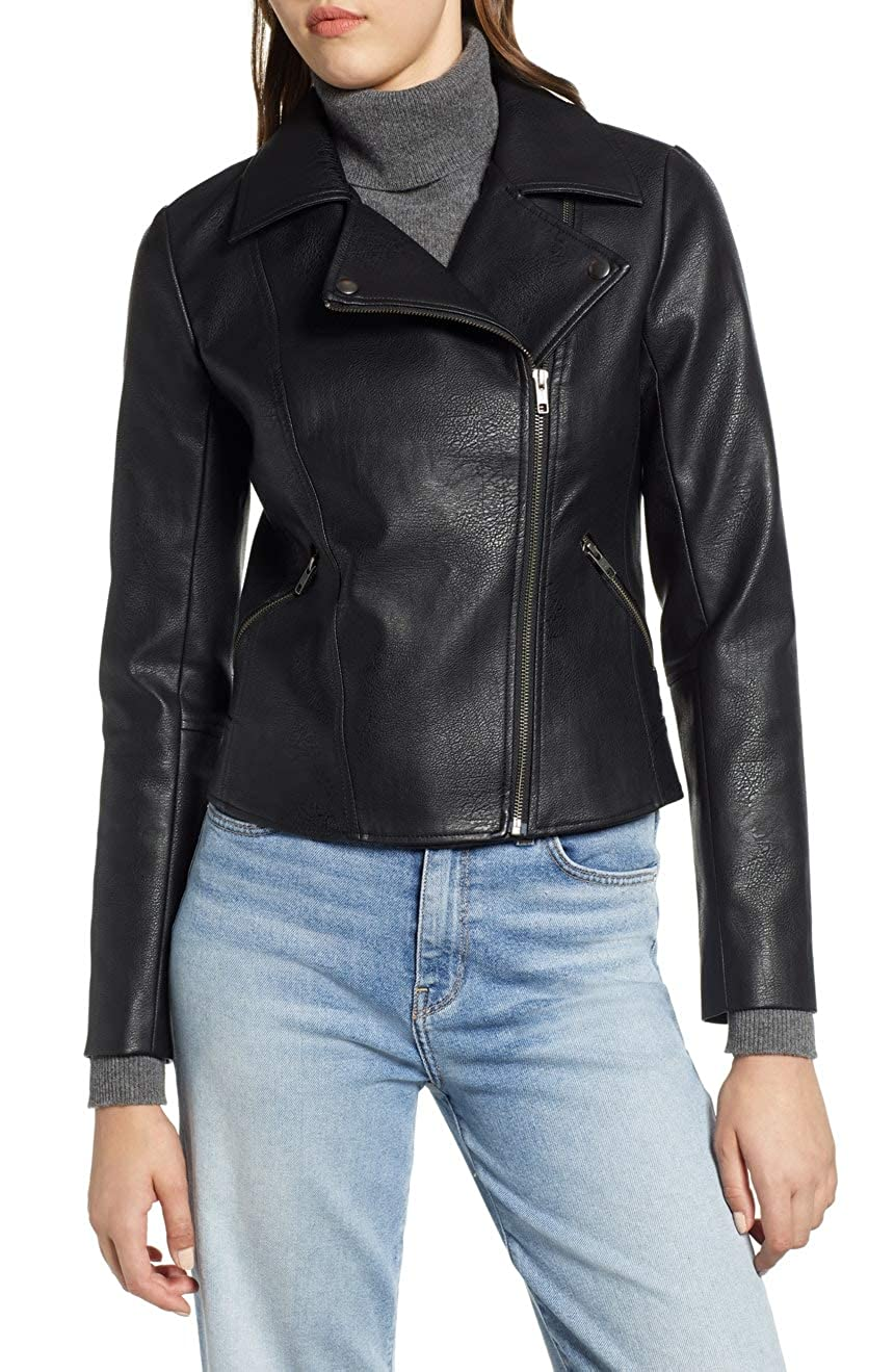 Blacks6 DOLBERG CREATIONS Sheepskin Leather Jacket for Womens
