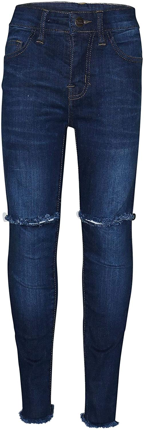 A2Z 4 Kids Kids Girls Stretchy Denim Jeans Designers Ripped Faded Skinny Frayed Pants Stylish Fashion Jeggings Trousers New Age 3 4 5 6 7 8 9 10 11 12 13 Years