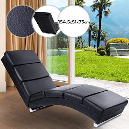Stupendous Lounger Ergonomic Thickly Padded Faux Leather Black Relax Sofa Chair Sun Lounger Garden Patio Furniture Dailytribune Chair Design For Home Dailytribuneorg