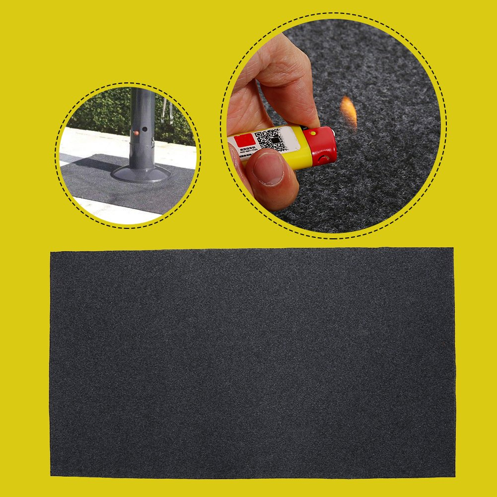 GOTOTOP BBQ Floor Protective Mat Fireproof Heat ResistantGas Grill Splatter MatBackyard Floor Protective Rug Outdoor Deck Patio Gas Grill Mat by GOTOTOP (Image #1)