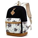 Gazigo Geometry Girls Canvas College Laptop Backpack + Lunch Bag (Teens  Backpack Set Blac) 4b9fcff2a6589