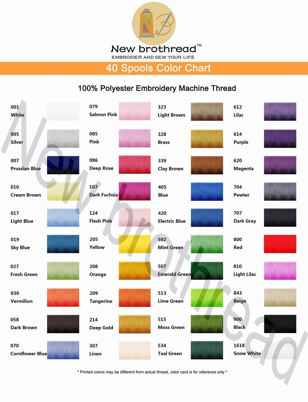 Amazon new brothread 40 brother colors polyester embroidery amazon new brothread 40 brother colors polyester embroidery machine thread kit 500m 550y each spool for brother babylock janome singer pfaff geenschuldenfo Gallery