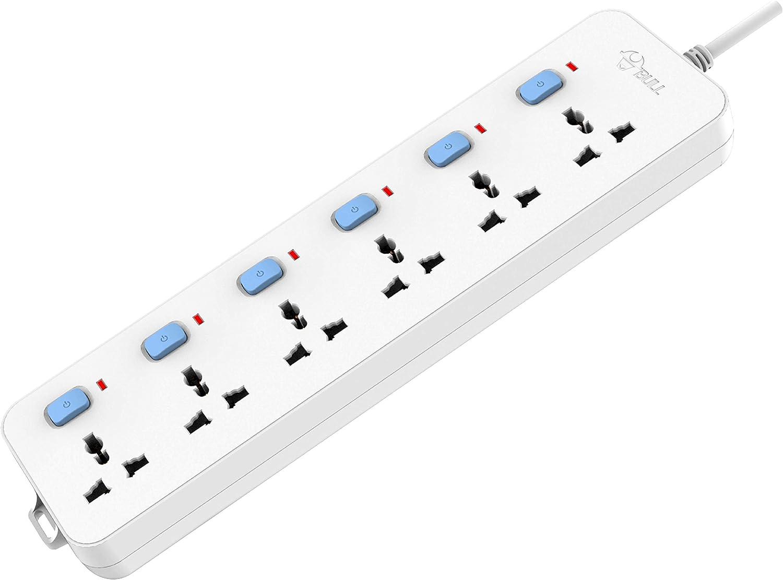 Gongniu (Formerly Bull) Extension Board, 6 Socket, 6 Switch, 3 M Wire