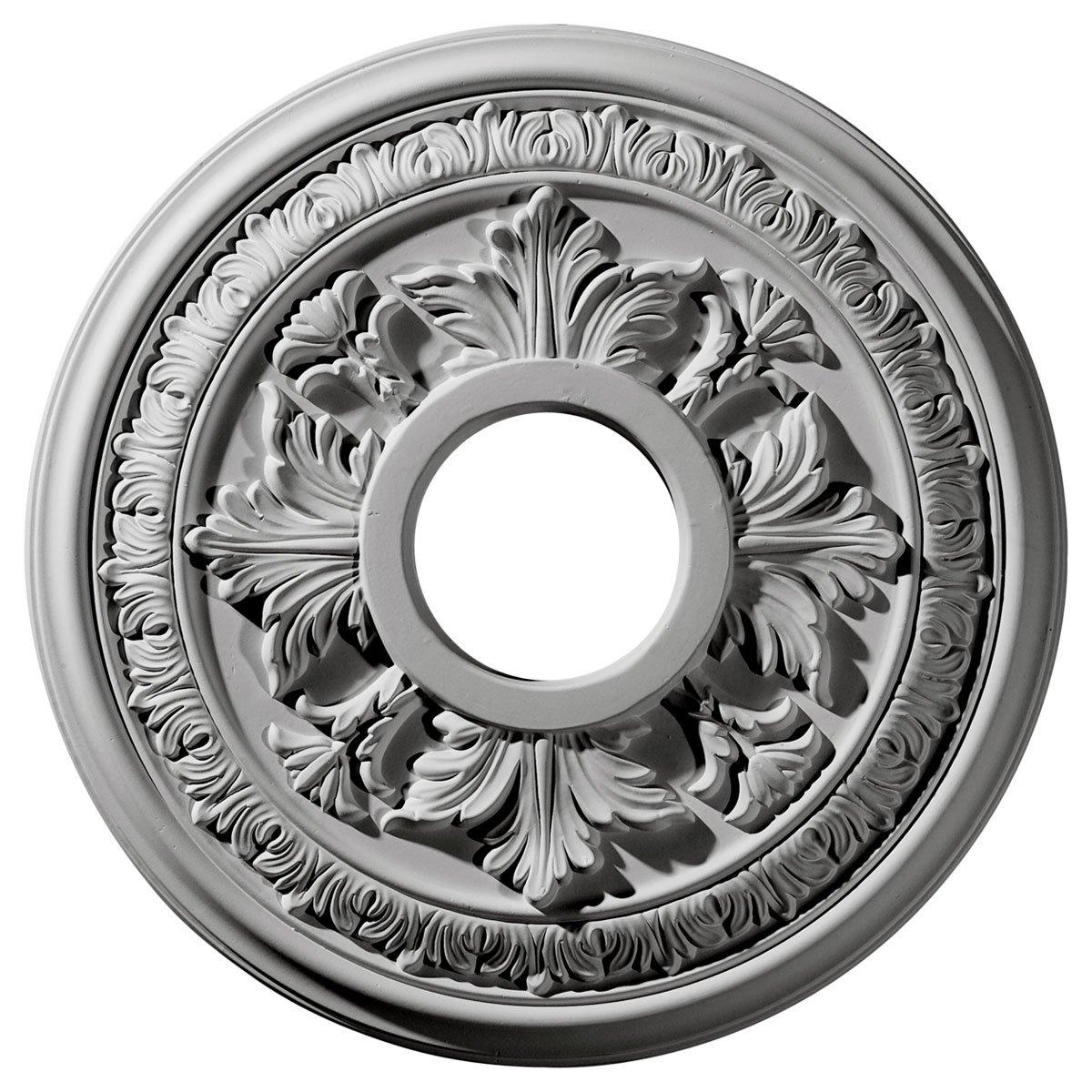 Ekena Millwork CM15BA 15 3 8 Inch OD x 4 1 4 Inch ID x 1 1 2 Inch Baltimore Ceiling Medallion
