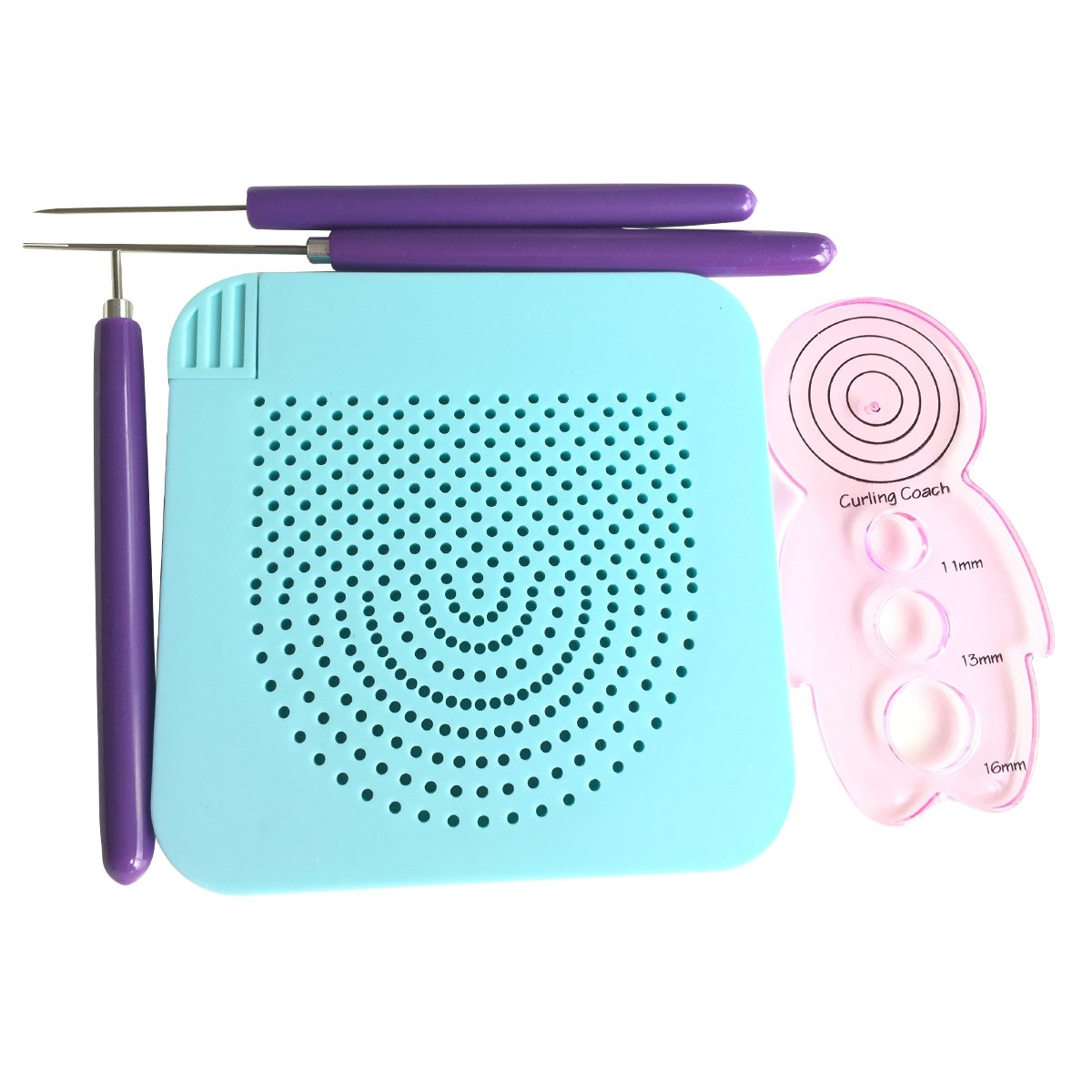 Lantee 5 Sets of Paper Quilling Tools Include 2 Sets of Quilling Slotted Tools 1 Quilling Awl 1 Quilling Curling Coach and 1 Quilling Board with Pins Storage