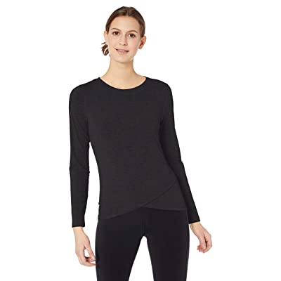 Essentials Women's Studio Long-Sleeve Cross-Front T-Shirt: Clothing