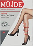 Müjde Kadın Parlak Fit Külotlu Çorap, 15 Denye 6'lı Paket