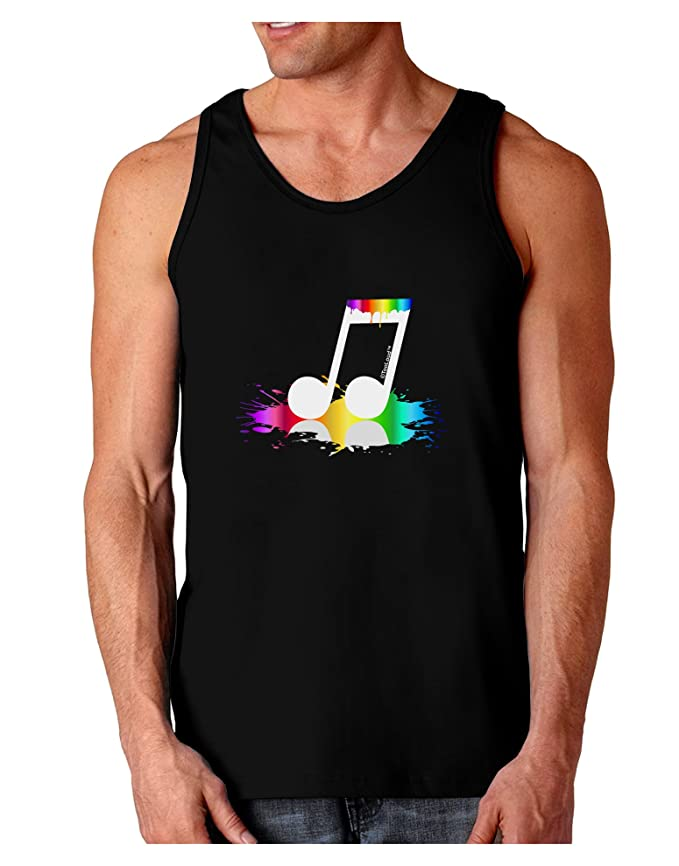 TooLoud Paint Music Note Muscle Shirt