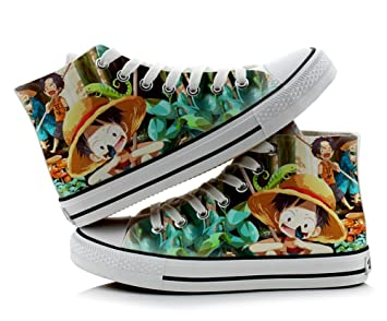 One Piece Luffy Cosplay Shoes Canvas Shoes Sneakers Colourful 1
